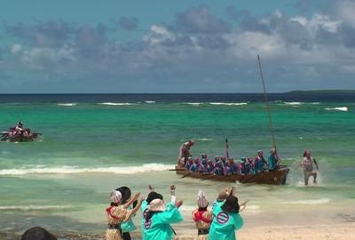 黒島で豊年祭