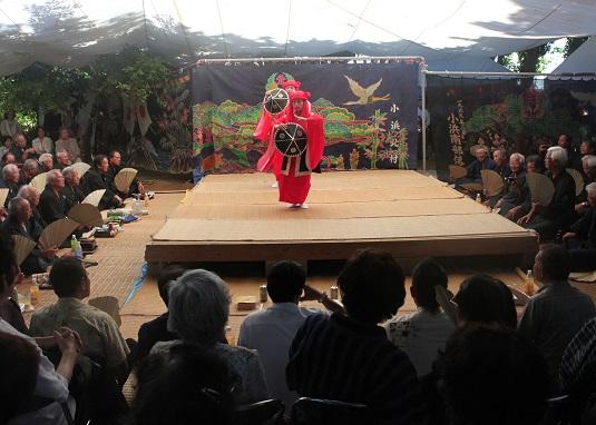 小浜島の結願祭盛況