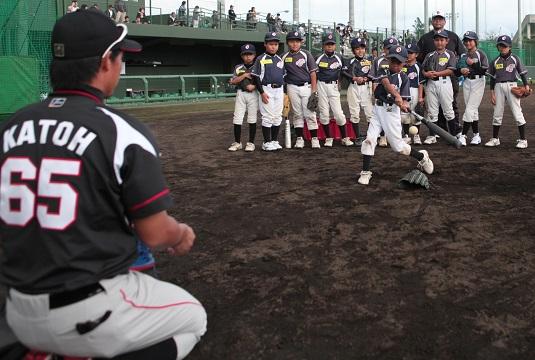 千葉ロッテ 少年野球教室