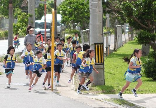 市民防災の日で避難訓練