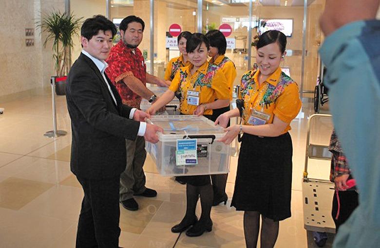 名古屋からタイマイ30匹空輸