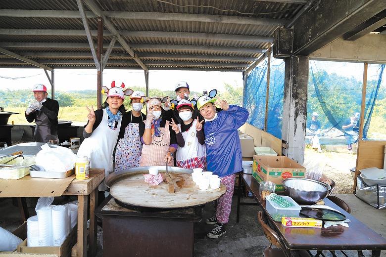黒島牛まつりの昼ごはん
