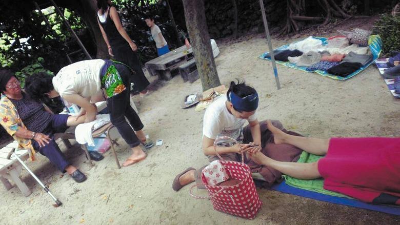 黒島のお嫁さんたちによる島嫁市開催