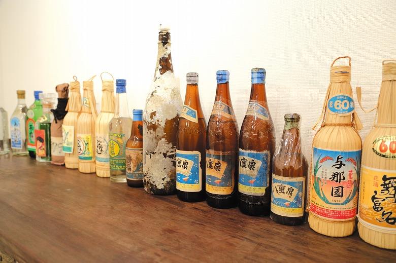 復帰前後の幻の古酒を展示